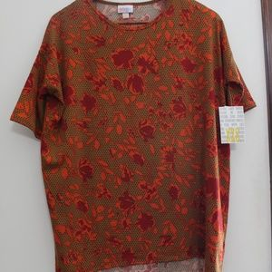 Oversized LuLuRoe Tee Floral Fall Colors NEW